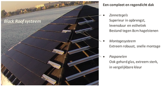 Exasun black Roof systeem